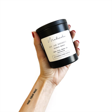 Hot Jam Doughnut Soy Candle - Matte Black Oxford