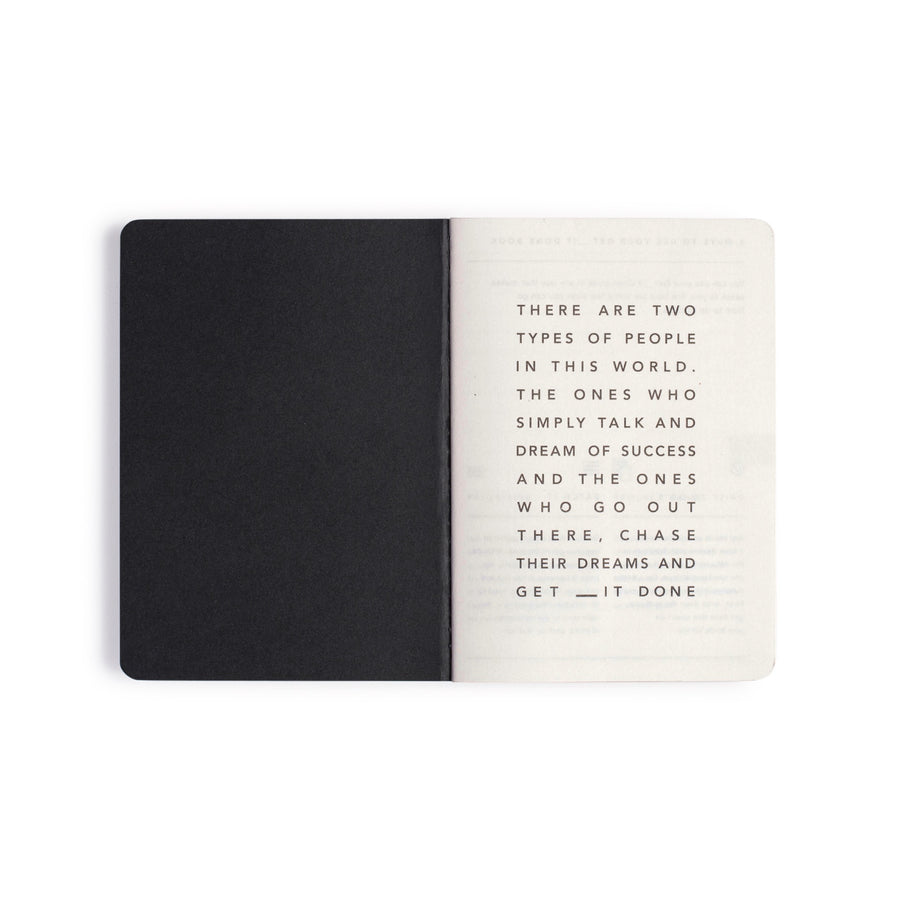 MiGoals Get __it Done A6 Notebook Black