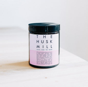 Rose Cacao Tea Blend 50g Jar - The Husk Mill - Pop Up Kindness