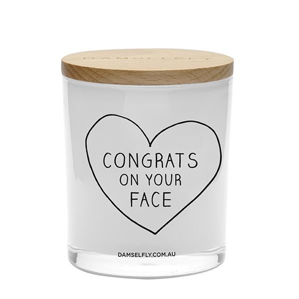 Congrats On Your Face - Candle - Damselfly - Pop Up Kindness