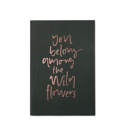 Amoung The Wildflowers - A5 Notebook
