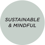 sustainable & mindful badge