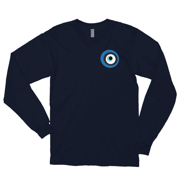 Evil Eye Navy Long sleeve t-shirt