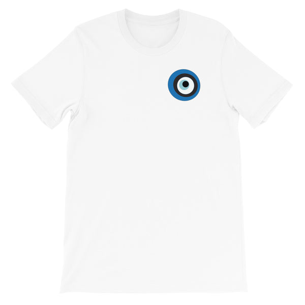 Evil Eye White Short-Sleeve Unisex T-Shirt