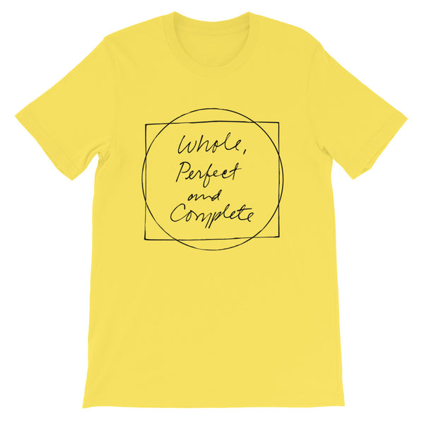 Whole Perfect and Complete Yellow Short-Sleeve Unisex T-Shirt