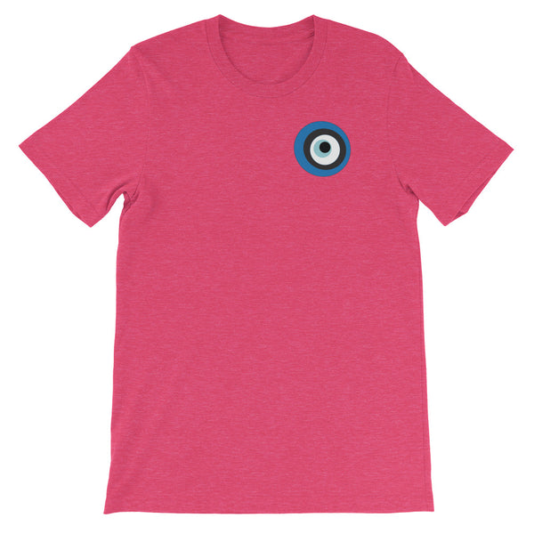 Evil Eye Rasberry Short-Sleeve Unisex T-Shirt