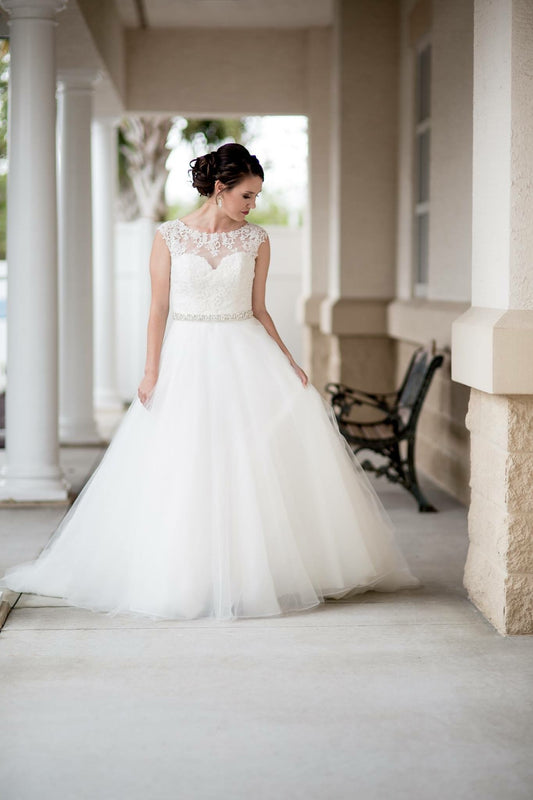 Gorgeous MoriLee Wedding Dress designed by Madeline Gardner