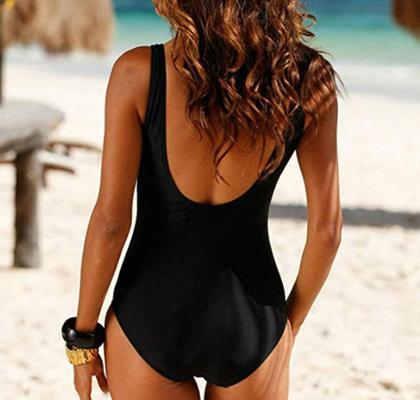 Babe Black One Piece Bachelorette Wedding Swimsuit