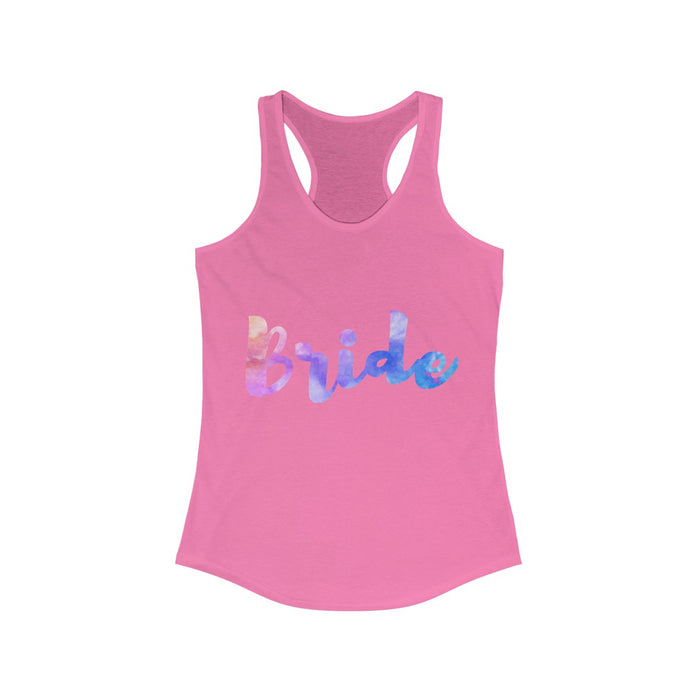 Bride Watercolor Women's Racerback Tank
