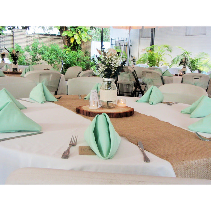 50 Mint Green Linen Napkins