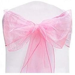 10 Light Pink Organza Chair Sash