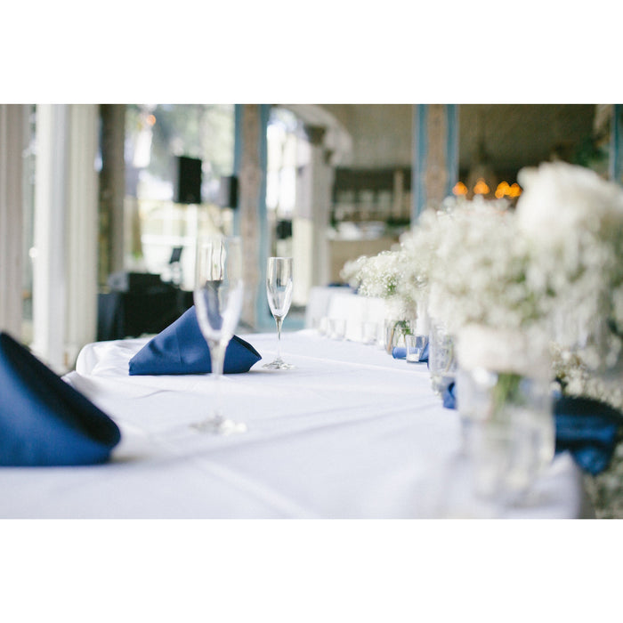 50 Navy Blue Linen Napkins