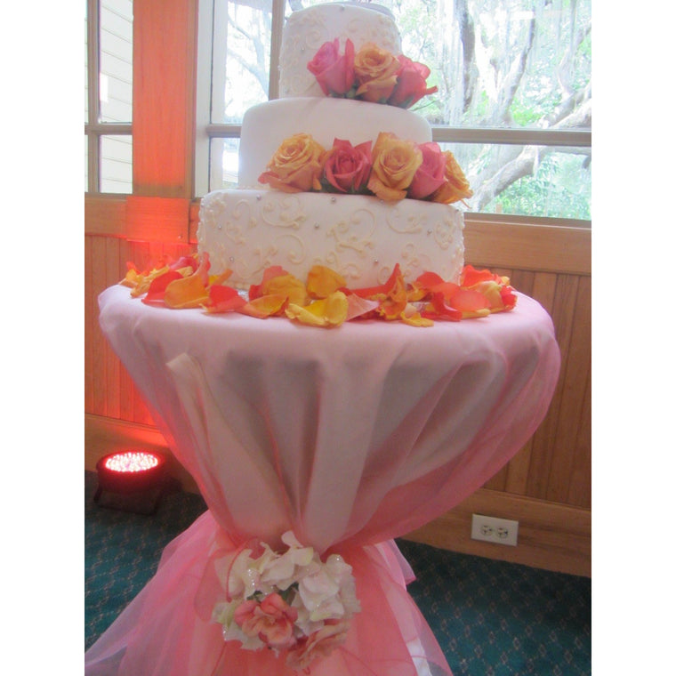 Coral Organza Tablecloth