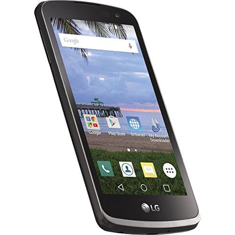 TracFone LG Rebel 4G LTE Prepaid Smartphone with Amazon Exclusive Free $40  Airtime Bundle