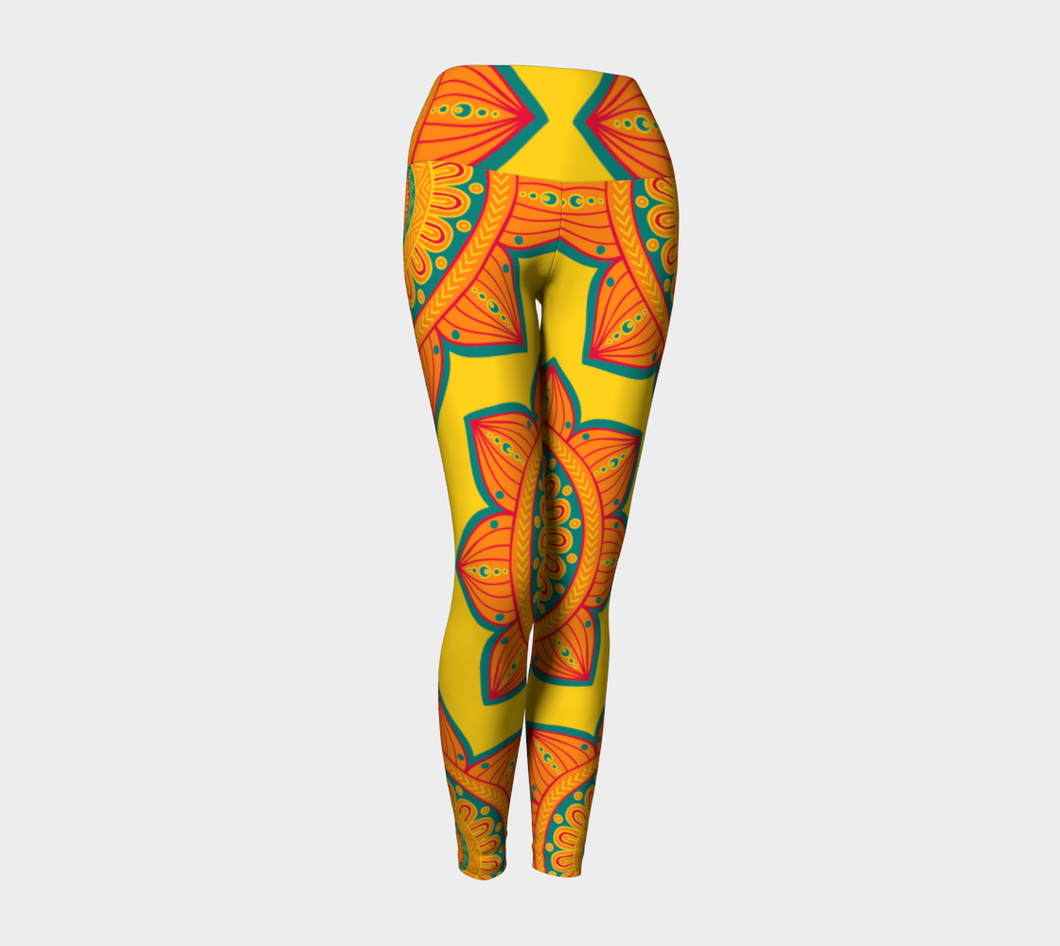 Leggings Taille Haute tournesol bande large