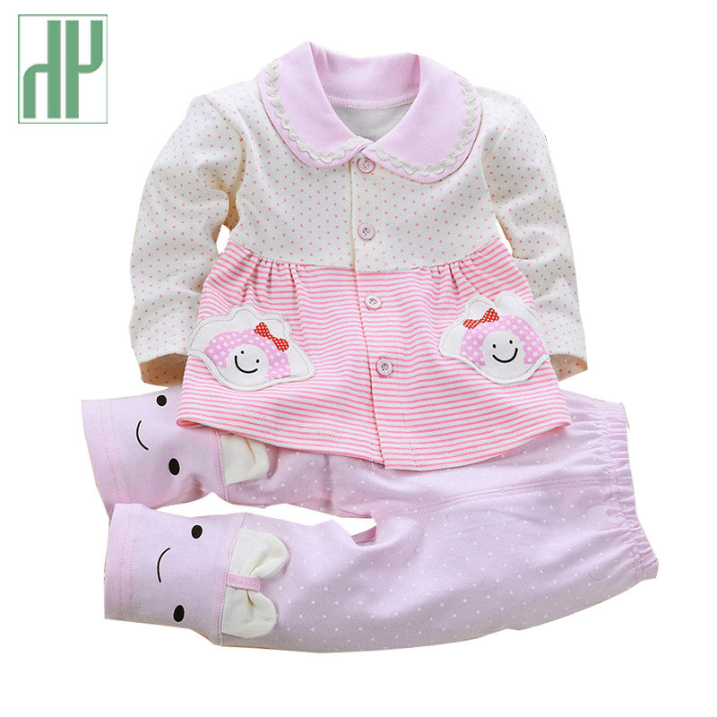 Newborn Baby Girl Clothes Spring Autumn Baby Clothes Set Cotton Kids