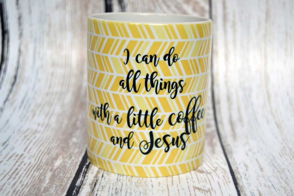 I Can Do All Things with a Little Coffee and Jesus, Coffee and Jesus, Christian Gift, Paster Gift, First Lady Gift, Christian Coffee Mugs