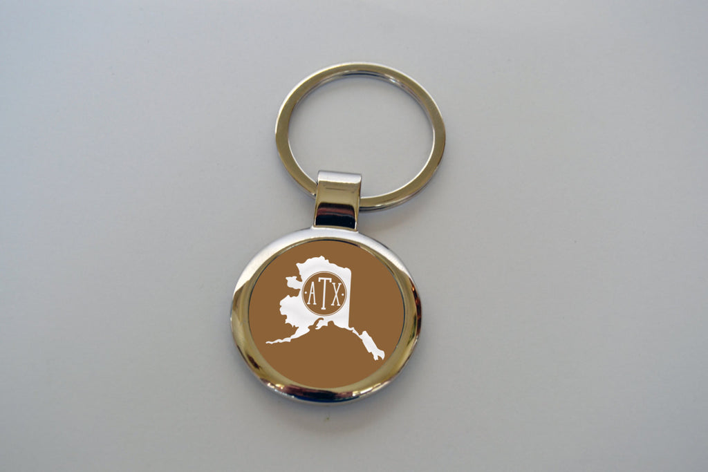 Monogram State Key Chain - Handmade in Harrisburg