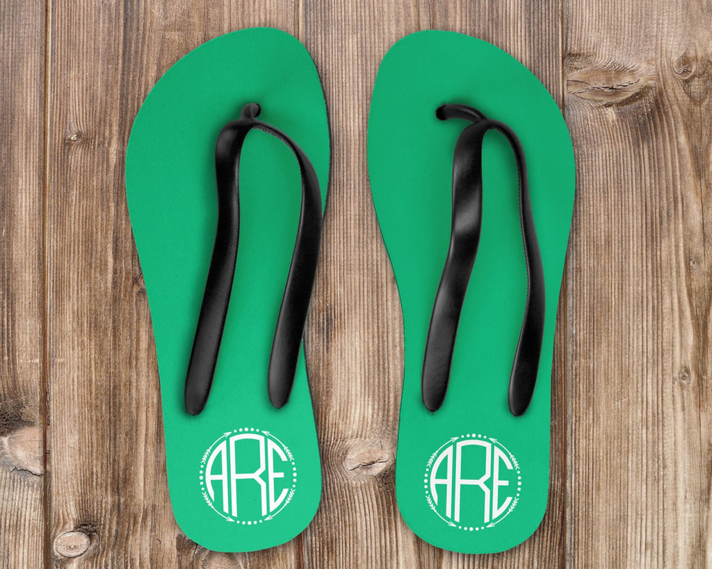 Personalized Custom Monogram Flip Flops, Personalized Sandals, Destination Wedding, Brides Maid Gifts, Bride Flip Flops, Monogrammed