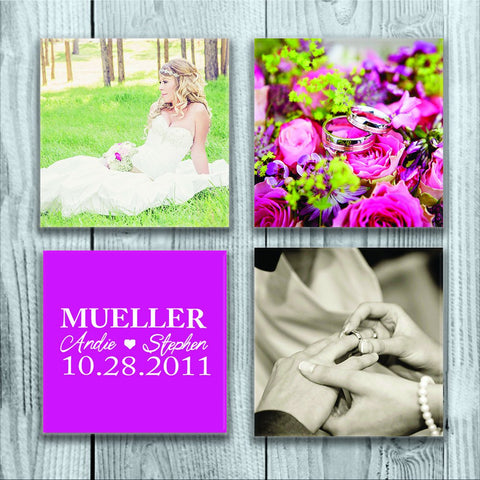 Personalized Photo Coasters, Custom Photo Coasters, Christmas Gift, Custom Picture Coasters, Custom Glass Coasters, Modern Floral Coasters