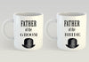 Image of Father of the Bride Mug, Father of the Groom Mug, Father of the Bride and Groom Gifts, Bride and Groom Mugs, Bride Mug, Groom Mug, Mug Set