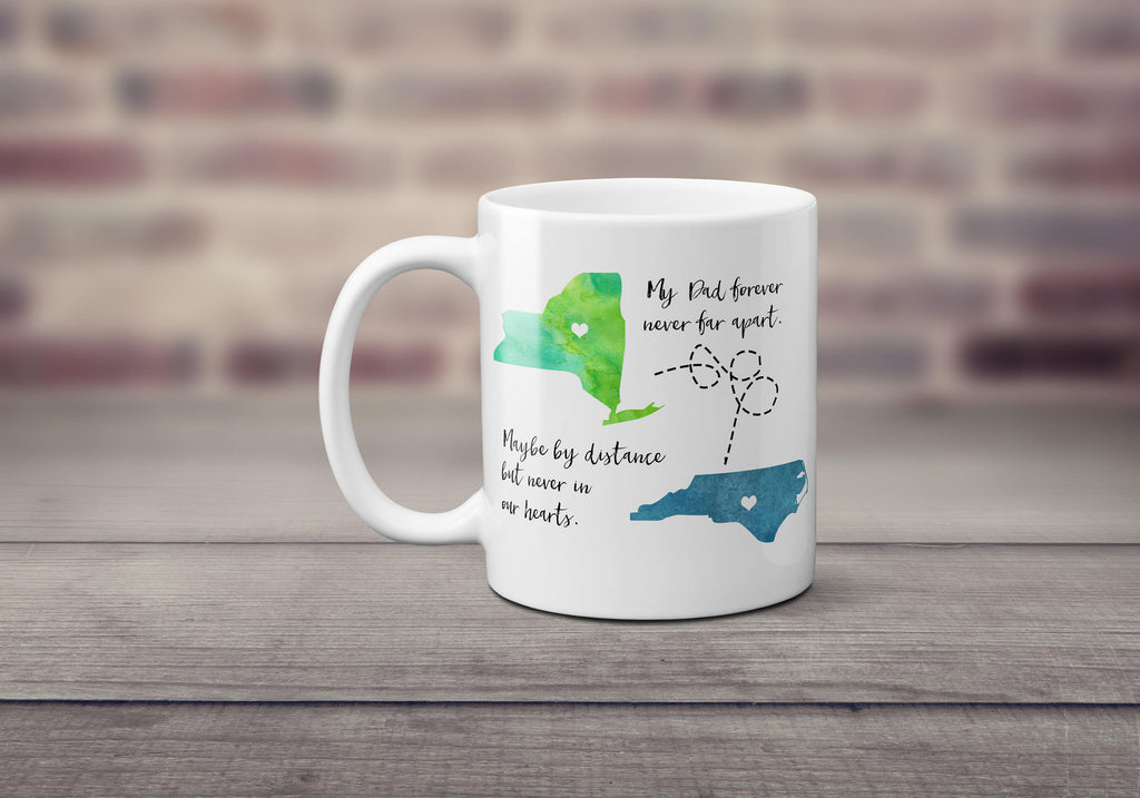 Long Distance Father's Day Mug - Father's Day Gift - Handmade in Harrisburg
