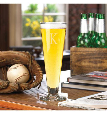 Tall Boy Personalized Beer Glass, Groomsmen, Best Man- Groom Gift, Bar Ware, Pilsner glass, Wedding Favors, Party favors, Custom Glassware