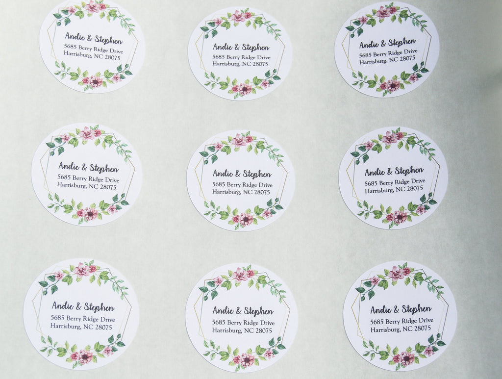 Watercolor return address labels, cute address labels, flowers return address labels, address labels, shipping labels, mailing label