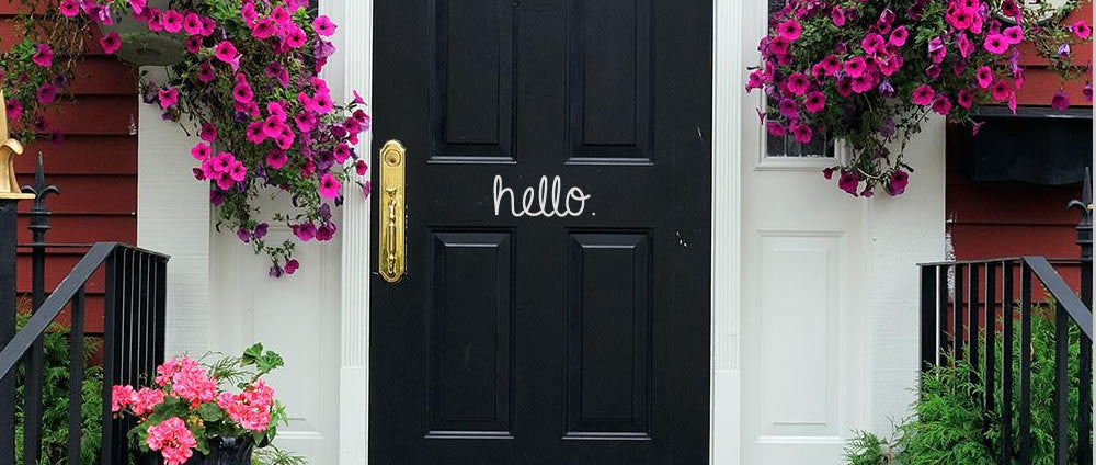 Hello Door Decal - Handmade in Harrisburg