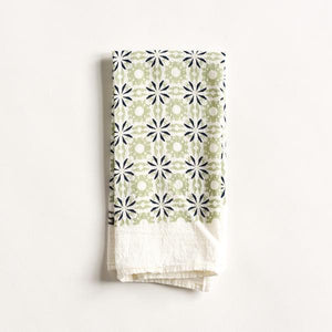June & December - Chicory Woodblock Napkin, Mint