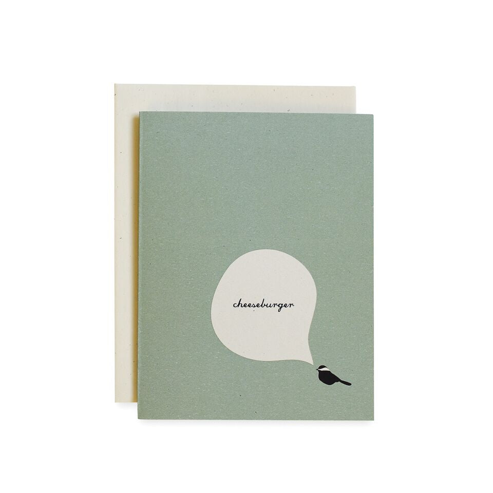 Cheeseburger Chickadee Card, Mint