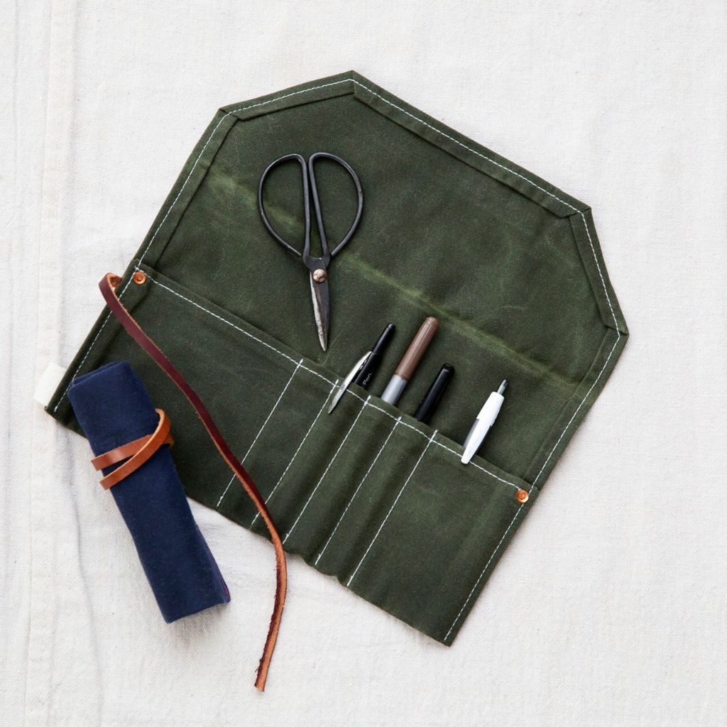 Waxed Canvas Pencil Roll