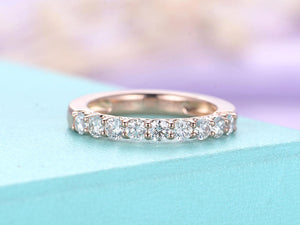 Diamond wedding band Vintage wedding band Women Rose gold Unique Antique Diamond Ring