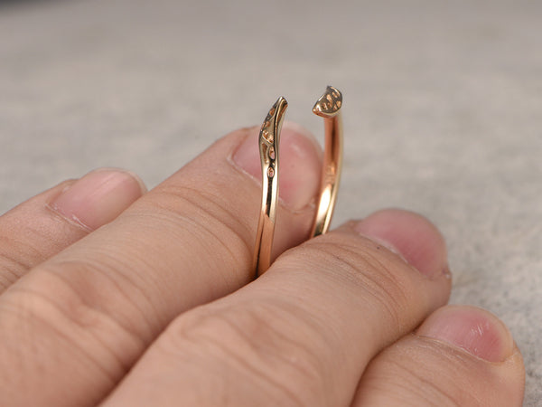 Floral wedding band!14K Yellow gold,Filigree solid gold,Art deco,stacking,Matching band