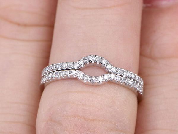 bands diamond gold white products d ring semi band hsn eternity