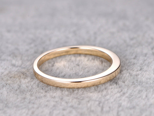 Plain gold wedding band,Solid 14K Yellow gold band,Anniversary Ring,stacking,Matching band,Simple Ring,white gold,rose gold band,1.5mm wide
