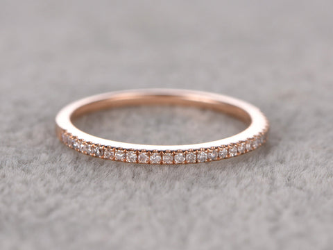 Custom order:Size 5,18k rose gold.curved half eternity diamond ring,