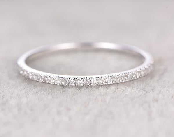 For special customer:3/4 Eternity Diamond Wedding Ring and Thin design,half eternity Diamond Wedding band,size 4.5,14k rose gold