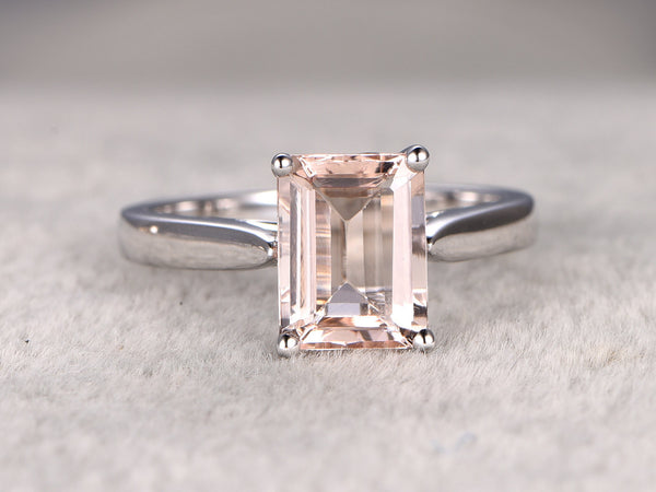 Custom order:main stone is 7x9mm cushion cut Pink morganite.side stones are pink morganites.size 6.5(N),14k yellow gold