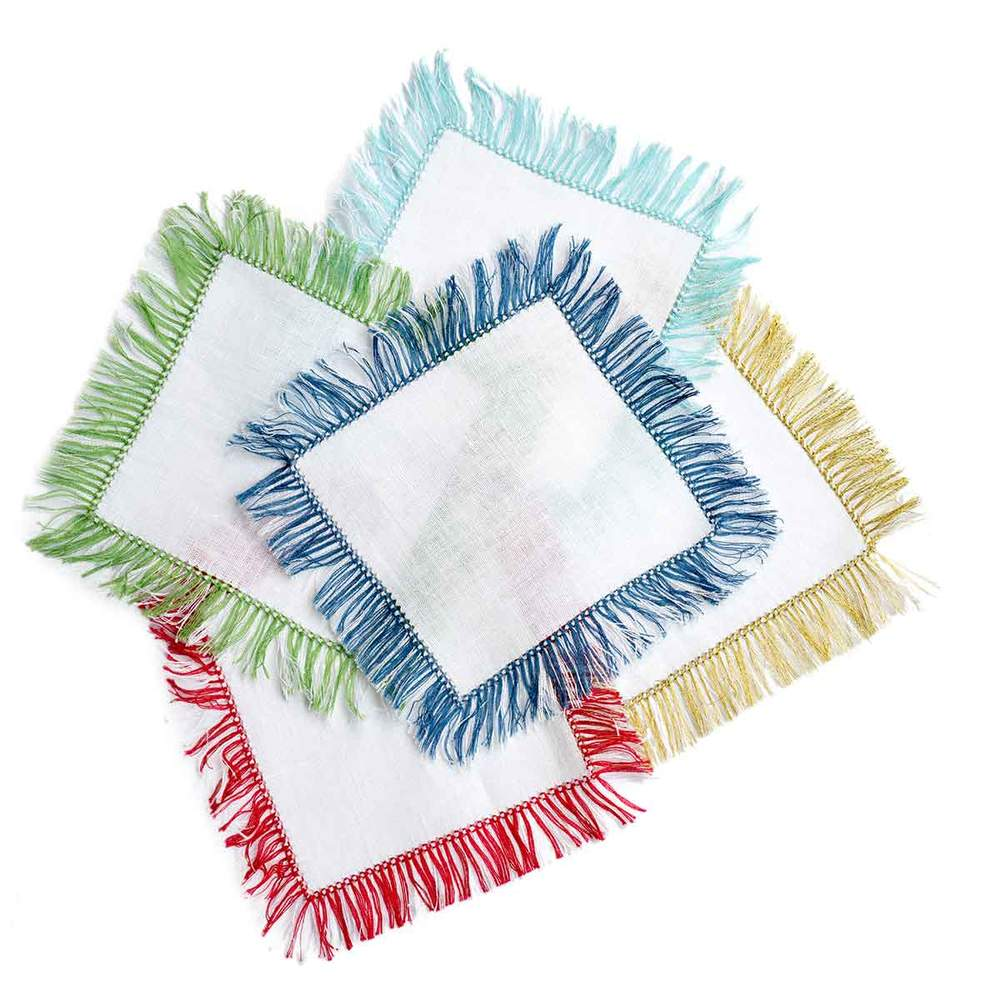 Fringe Cocktail Napkins (set of 4) - Assorted Colors