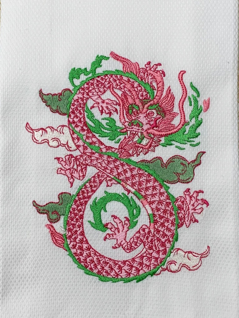Beautiful Dragon on Cotton Huck Towel