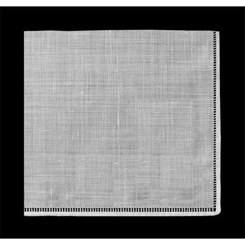 Linen Spoke Edge Hanky