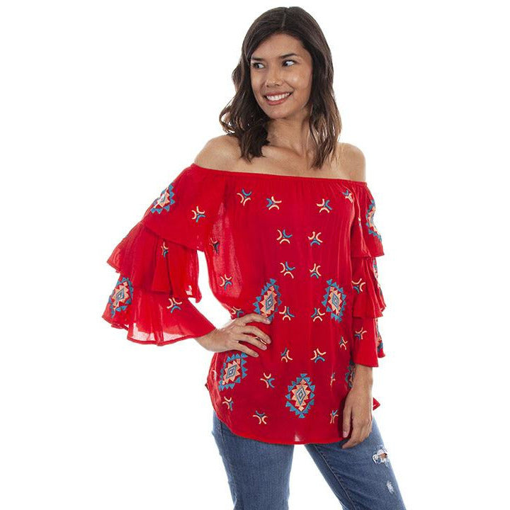 Scully Red Top - Sooz Boutique