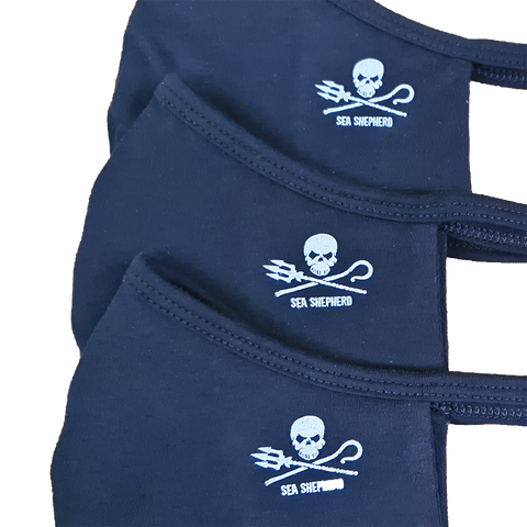 Jolly Roger 100% Organic Australian Made Face Mask - 3 Pack