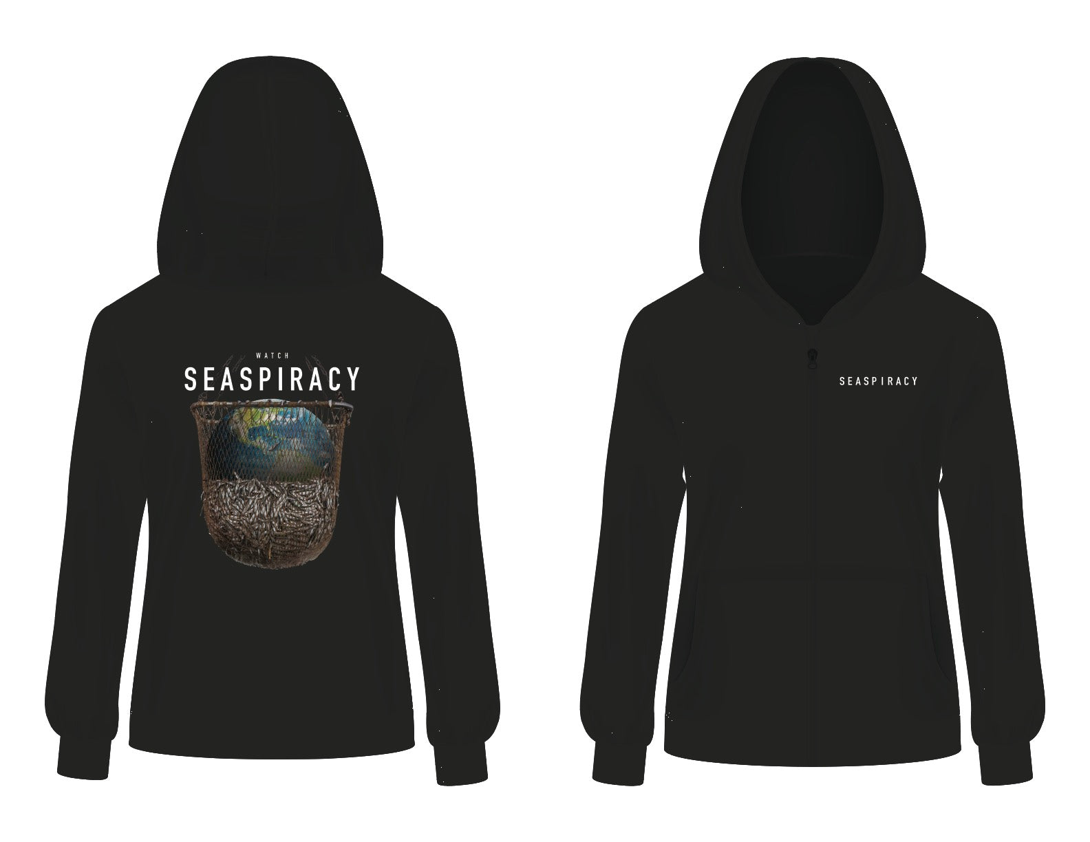 Seaspiracy Earth Graphic Unisex Pullover Hoodie