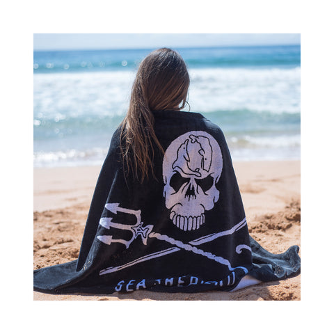Jolly Roger Towel Unisex Big Logo 100% Organic Cotton