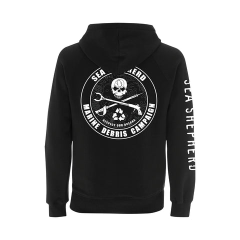 Operation Marine Debris Zip Hoodie Unisex Small Logo 100% Organic Cotton