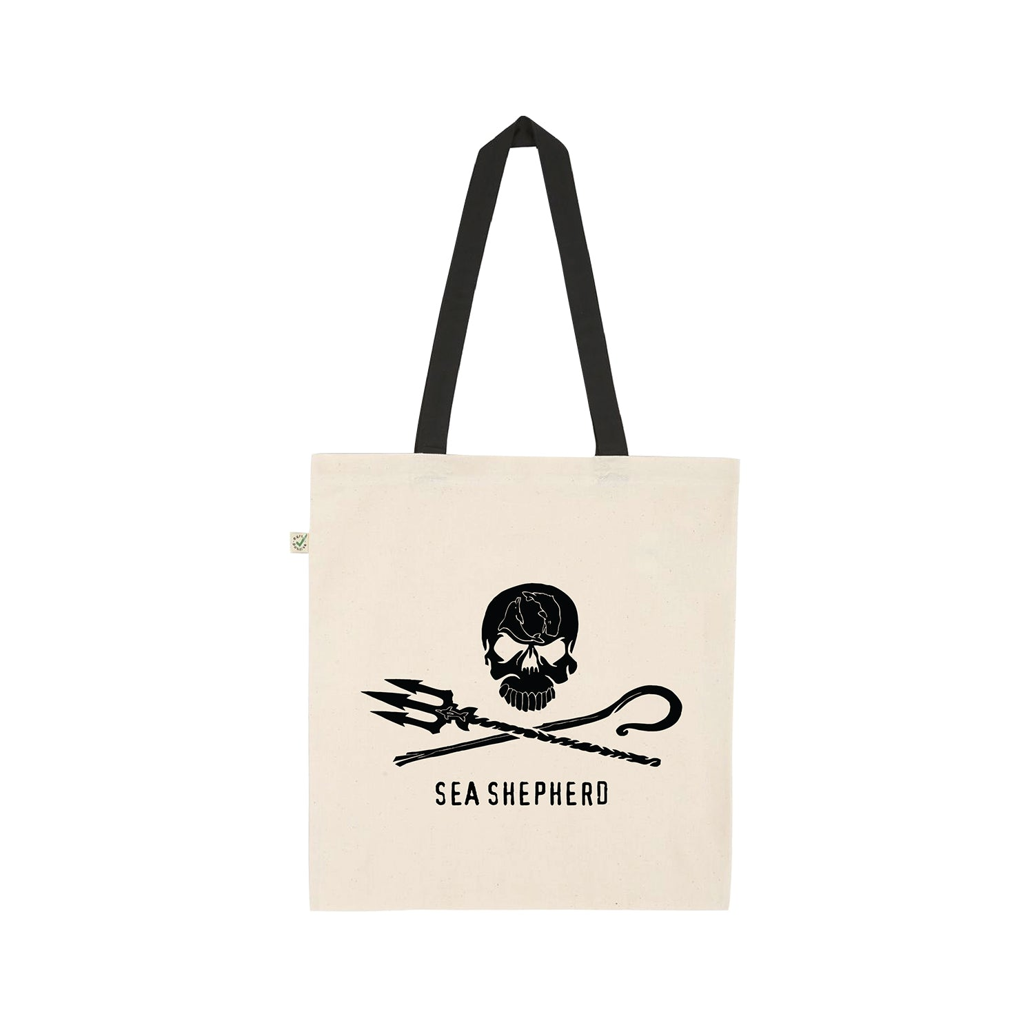 Sea Shepherd Tote Bag (Black Handles)