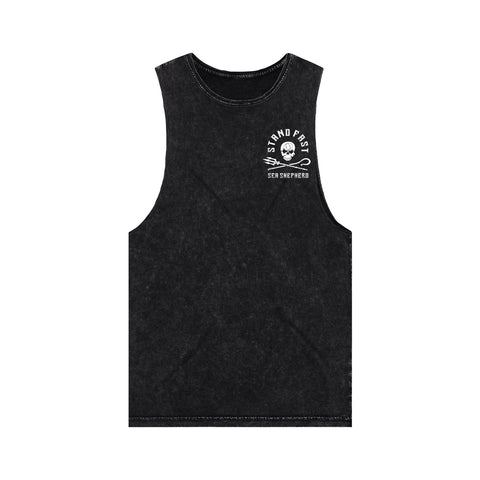 Sea Shepherd - Stand Fast - Protector Of The Sea - 100% Organic Cotton Muscle Tee - Acid Black
