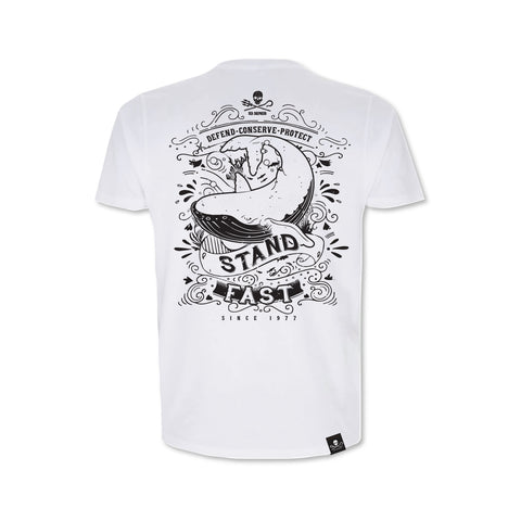 Sea Shepherd Stand Fast - Grand Master 100% Organic Cotton Jersey - White Tee